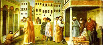 Healing of the Lame by Masaccio